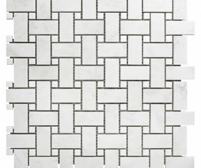 White Dolomite Basket Weaves White Dots