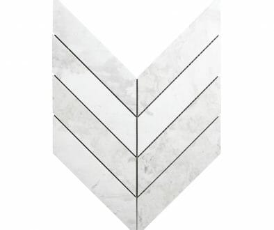 White Dolomite Chevron Tile