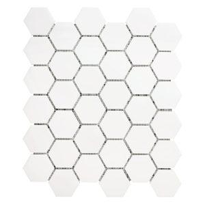 White Dolomite hexagon mosaic tile