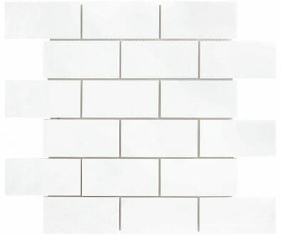 White Dolomite Subway Mosaic Tile