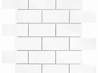 White Dolomite subway tile for shower floor and wall, kitchen backsplash, bathroom wall or floors.