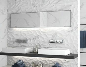 white heart 3d wall tile