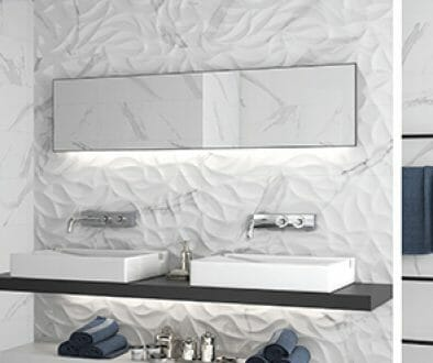 white heart statuario 3d leaves wall tile