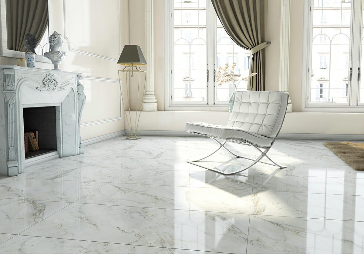Anderson White Porcelain Tile 24x48