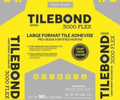 Tile Adhesive Thinset for large tiles