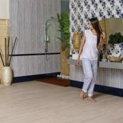 Wood Look tile jacaranda maple with creamy color background and light brown grains
