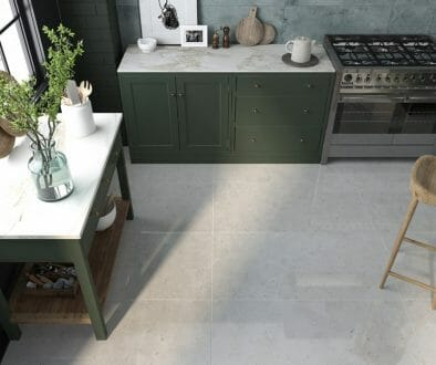 large format cement look tile Kalahari grey in 24x48 polished finish