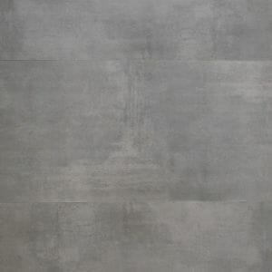 large grey tile with concrete effect mimicking industrial style floors in grey color