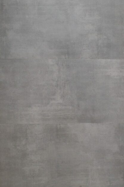 Grey color, rectified porcelain tile from Tukey in Large format that mimics concrete floors.