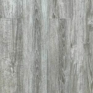 Porcelain wood plank in grey color with white grains