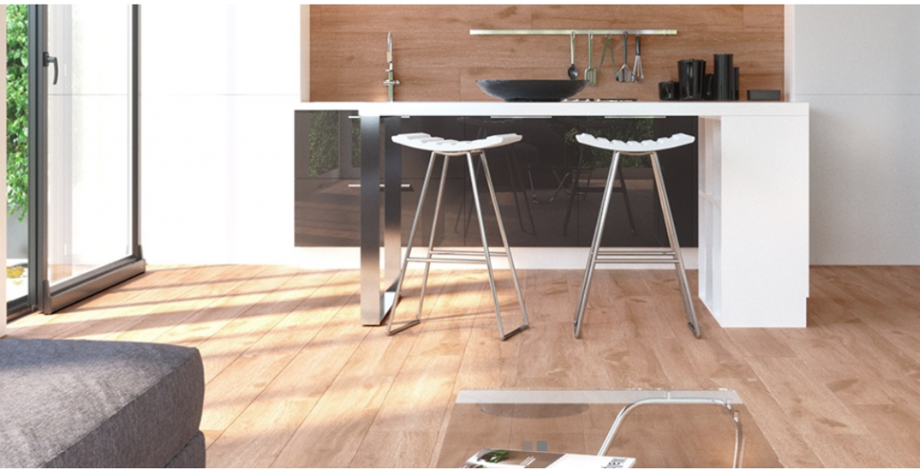 Wood Style Tile Argenta Teak comes in a reddish brown color to create a traditionalhardwood floor effect. 8x48 rectified porcelain tile from Spain