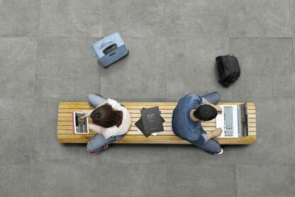 30x30 Porcelain floor tile in grey color with concrete floor look; Urban Grey