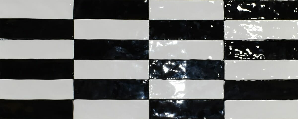 Black And White Large Subway Tile 3x12