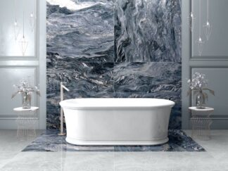 Explosion Blue Porcelain tile is the replica of a stunning granite.