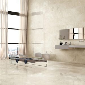 interiors picture ofPorcelain tile that looks like Crema Marfil Marble