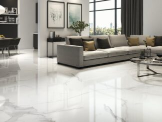 48x48 porcelain tile with the look of Italian Statuario marble
