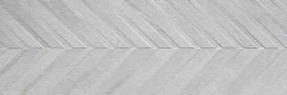 larger Image of a chevron pattern light grey wall tile