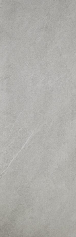 Light grey wall tile in large format with the look of limes stone