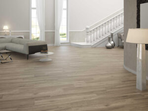 wooden porcelain tile Milena Nuez has the look of hazelnut tree. Rectified porcelain tile made in Spain