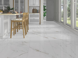 White and beige tile with the marble look