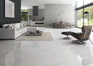 white tile with grey veining in the large24x48 size