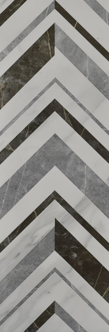 wall tile in chevron style