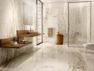 porcelain tile that looks like white onyx in the 24x48 size and the polished finish