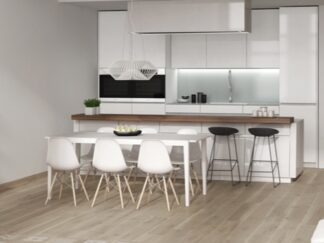 Selandia Haya is a porcelain floor tile in light earth tone looking like wood