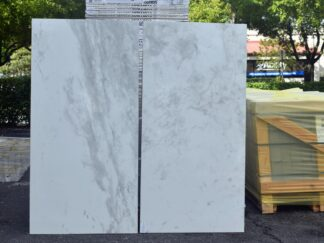 porcelain marble tile in white color with grey veining
