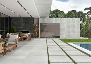 porcelain tile from Spain that looks like cement floors in light grey color