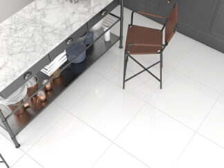 Snow White color porcelain tile with no design