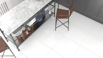 Snow White color porcelain tile with no design
