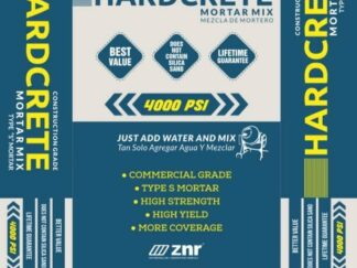 High strength mortar mix for leveling the floors prior to tile installation