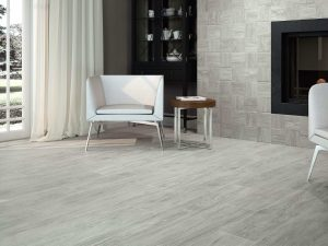 porcelain tile that looks like wood in light grey color from Spain