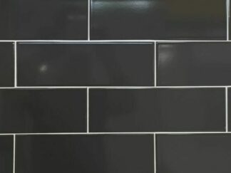 dark grey color glossy subway tile in large size
