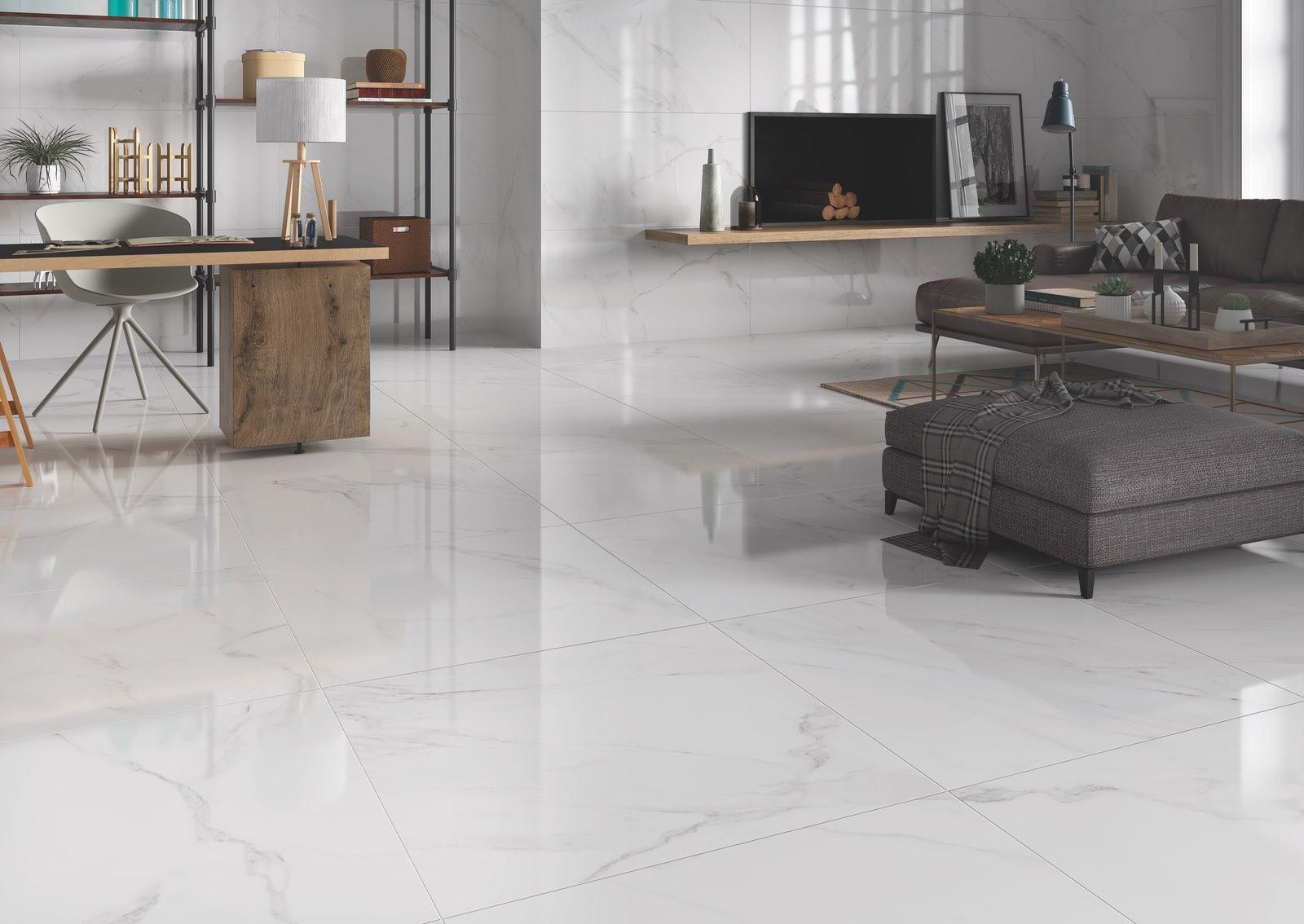 Naos White Polished Porcelain Tile 7x7 - Tiles & Stone Warehouse