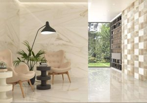 Dozza gold is porcelain tile that comes on white background and gold color veining like Calacatta Gold Marble