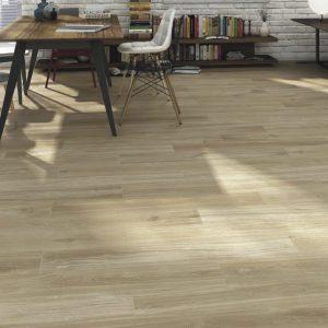 Porcelain wood plank hardy Haya is floors tile that mimic light maple style Harwood flooring