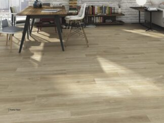 Porcelain wood plank hardy Haya is floors tile that mimic light maple style Harwood flooring