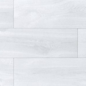 porcelain plank tile with white wood look in distress style