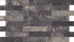 black porcelain tile that looks like ledger panel