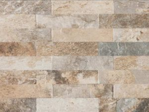 Multicolor Ledger Panel is a porcelain tile that looks and feels like the ledger stones in earth tones with some grey