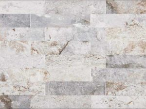 grey porcelain tile that looks like ledger panel