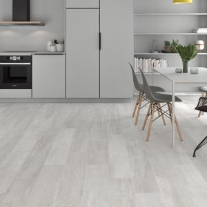 Palio white is a wood look look porcelain tile in a modern style