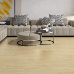 Logic ivory is a porcelain tile floor tile with the look of wood. 9x48 large size that eliminates grout. Made in Spain