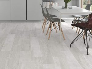 Gray wood look tile Palio White is a modern tile that has some concrete look elements.