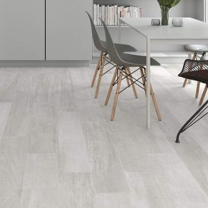Palio White is a modern wood look tile that has some concrete look elements.