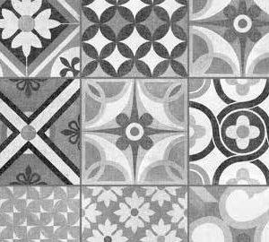 black and white decorative floor tile heritage mono