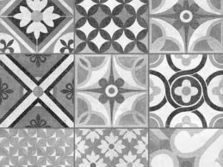 black and white decorative floor tile heritage mono
