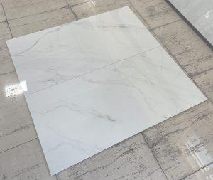 Carrara marble style porcelain tile